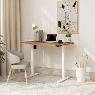 A home office in spare room