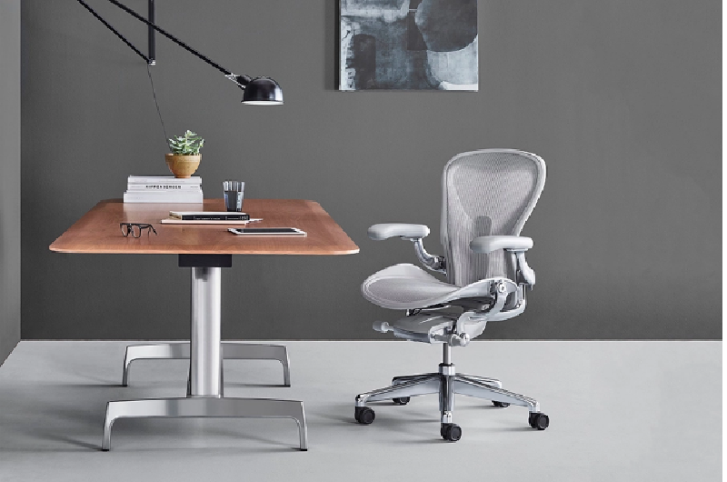 setting up an office space with an ergonomic chair