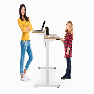 One/Two-Tier Switch  Standing Desk keeps you organized and  your mind clear