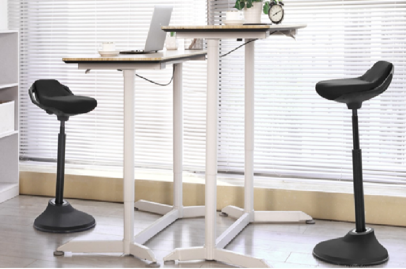 Picture of two chairs for standing desk