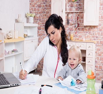 working at home as a parent