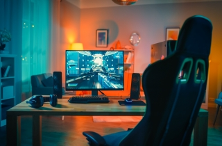 gaming chair and table