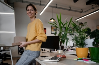 employee standing in the office