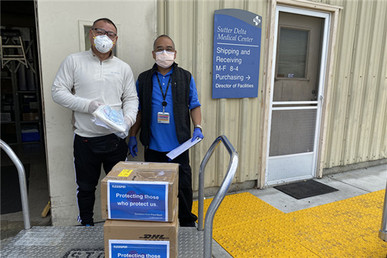 FACE MASKS DONATION TO Sutter Health Medical Facility