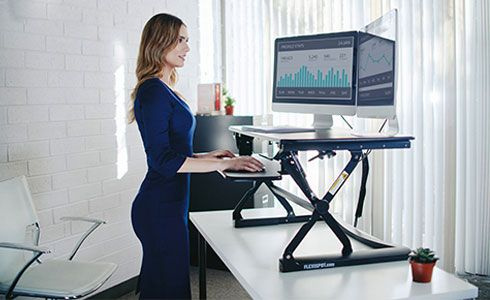 Sit-Stand Desk to Alleviate Neck Pain