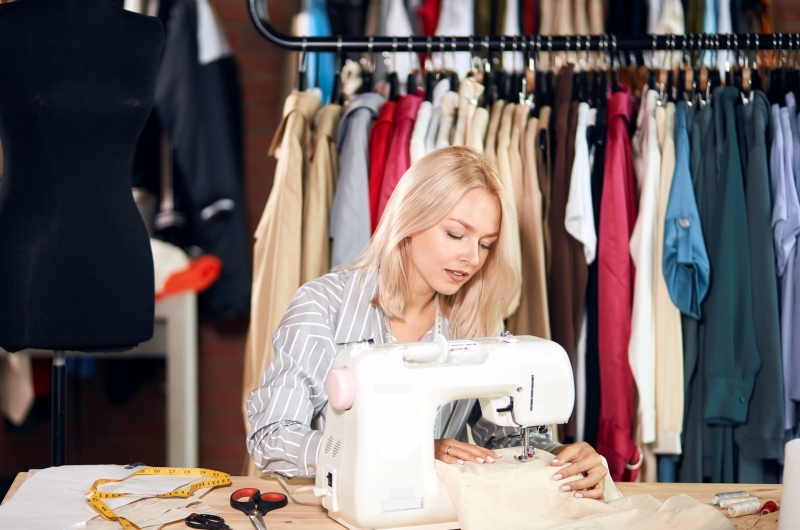 The height Adjustable Sewing table makes out a fashion designer winner in you
