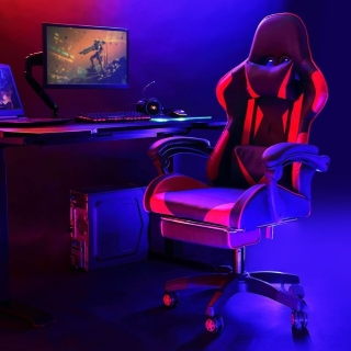 Gaming will never be the same with the  E-Sports Chair with Headrest and Lumbar