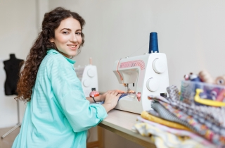 The Height Adjustable Sewing Table supports your creative skills in design and c