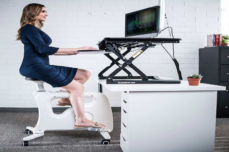 The Under Desk Bike V9U is a great workout buddy even in the office. It lets you