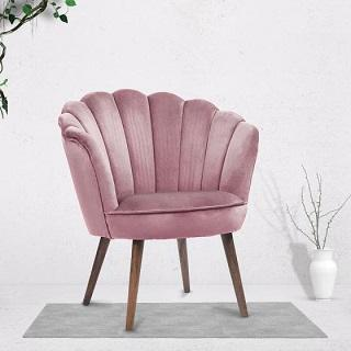 Aesthetics and  good posture complement each other in a scalloped accent chair 1
