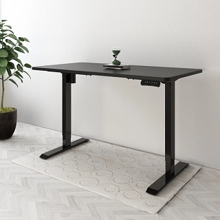 A height adjustable and  ergonomically designed  standing desk with a large desk