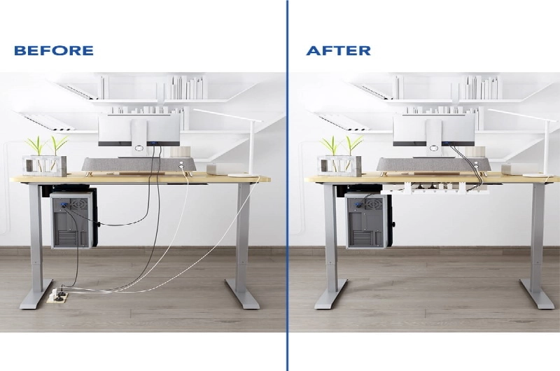 Be stress free and make your table clutter free with the Cable Management Tray C