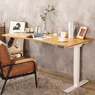 The Kana Bamboo Standing Desk is packed with very functional features that would