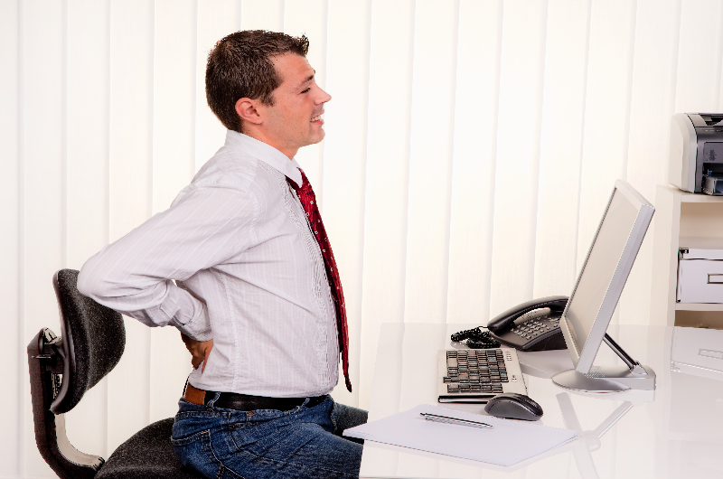 worker with hip pain