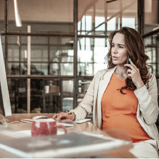 office worker who is pregnant