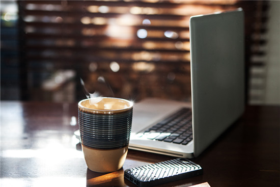 Morning coffee and internet