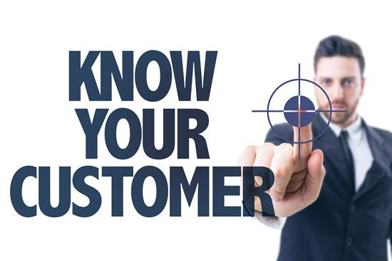 A man is saying that know your customer