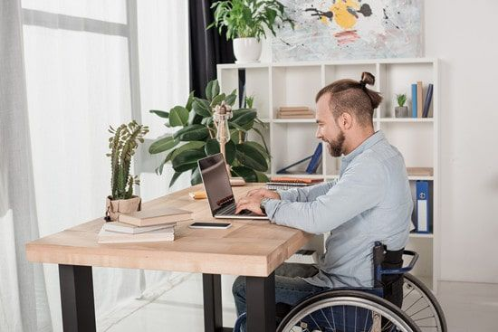desk for wheelchair accommodation
