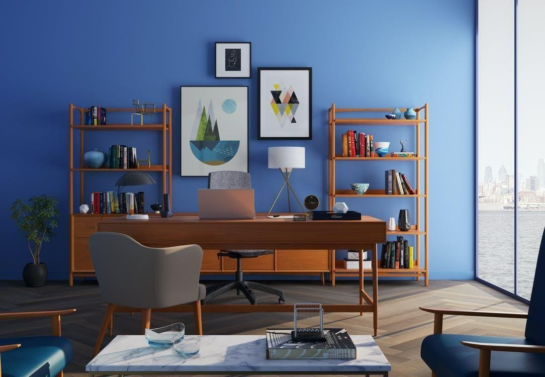 A Blue Home Office