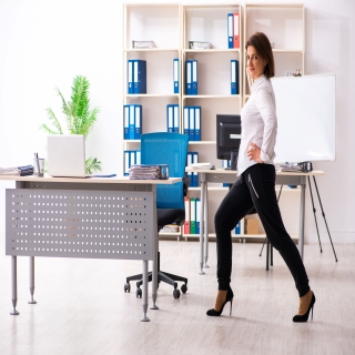 The Vici Duplex Standing Desk will keep your body in shape through exercises in