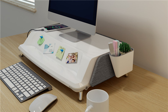 monitor stand workstation for home office organization