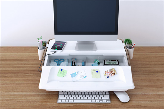 home office setup monitor stand workstation S6