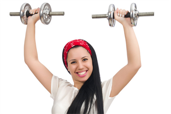 A young teen is doing exercise