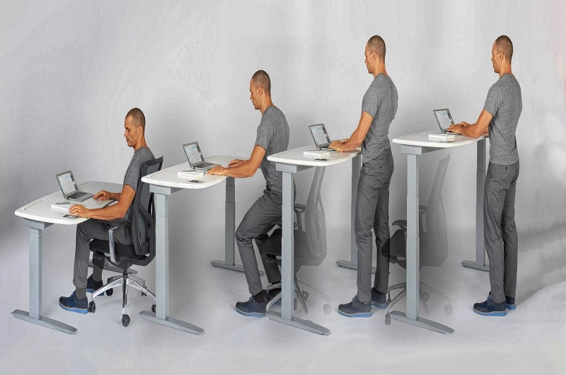 series of images for rising desk