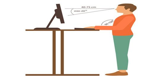 standing posture at the standing desk