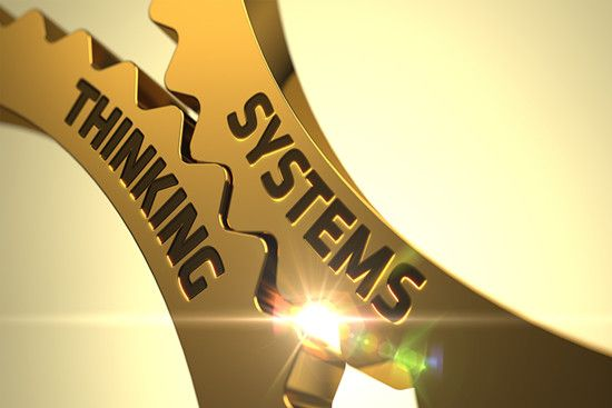 Two gears show system thinking