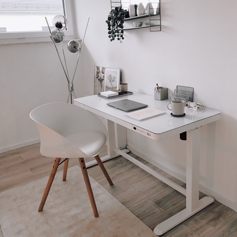 Comhar All-In-One Standing Desk Glass Top