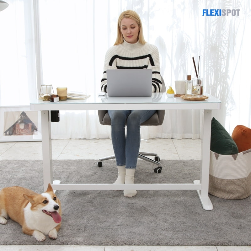 Comhar All-In-1 Standing Desk Glass top