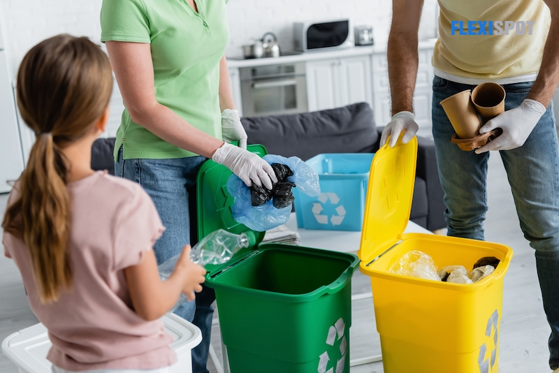 Segregate plastic from other waste accumulated