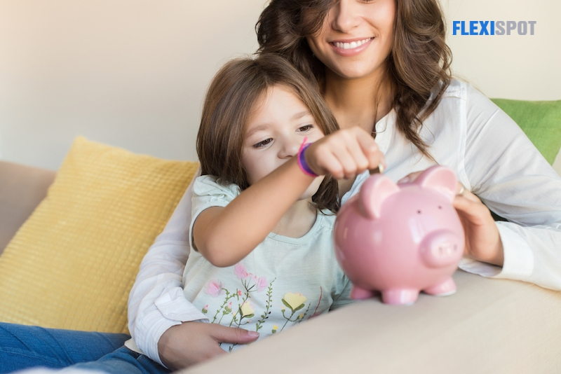 5. Provide a tangible place for your kids to save and monitor their savings.