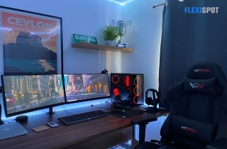 gaming desk and chair