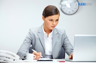 woman concentrate to her work