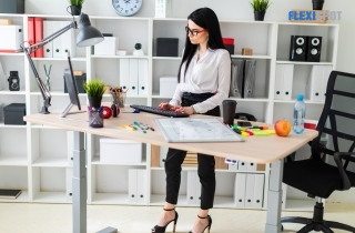 Columns and Standing Desk