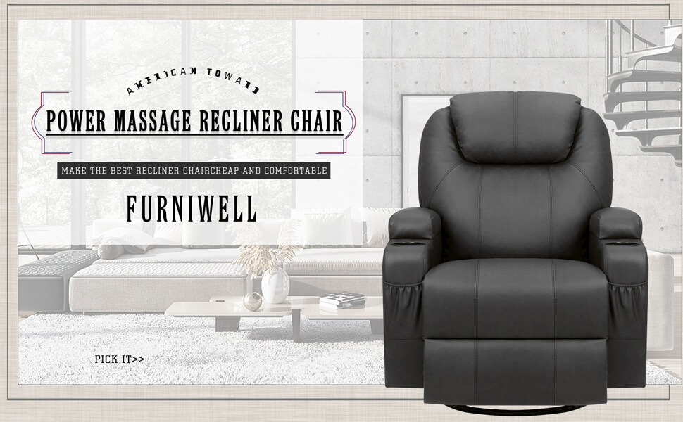 【Extreme Comfort】This recliner chair has incomparable comfort.A large headrest with a padded back and cushion will relax your back pressure.You could pull buckle at side,it will pop the footrest.You could stretch your body and let go of the day's fatigue.Feel the comfort of sinking into the soft sponge.