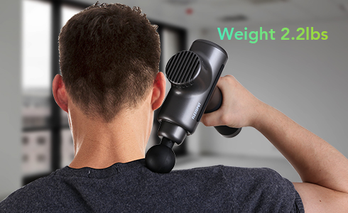 With the handy included carrying case, you can take the massage gun anywhere—for workouts, home, office and even when traveling to provide quick relief of muscle aches and fatigue. It is also a great gift for family and friends.