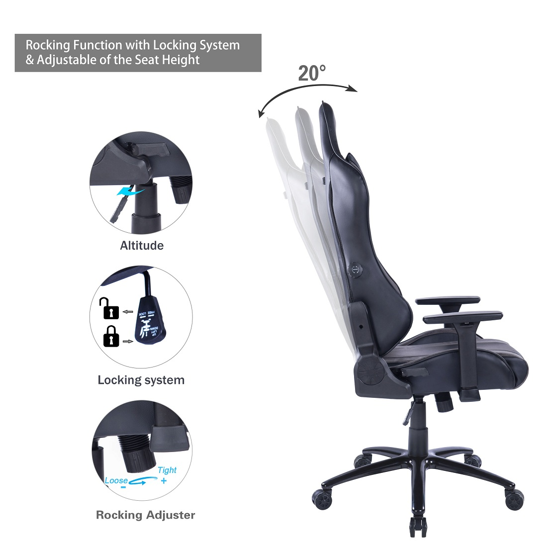 Adjustable Gaming Chair AJWB_8263
