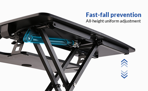 High-powered gas springs offer smooth & stable straight up-down operation, with a specially engineered bracing system that increases safety by preventing rapid falls, even while under full load.