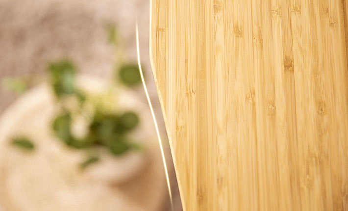 We employ lateral compression technology to retain the beautiful, natural grain of every bamboo strip.