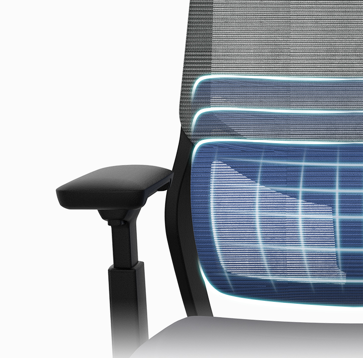 Soutien Ergonomic Office Chair with adjustable lumbar support