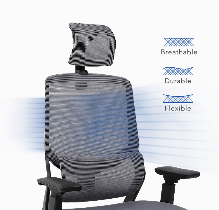 Soutien Ergonomic Office Chair with breathable back mesh