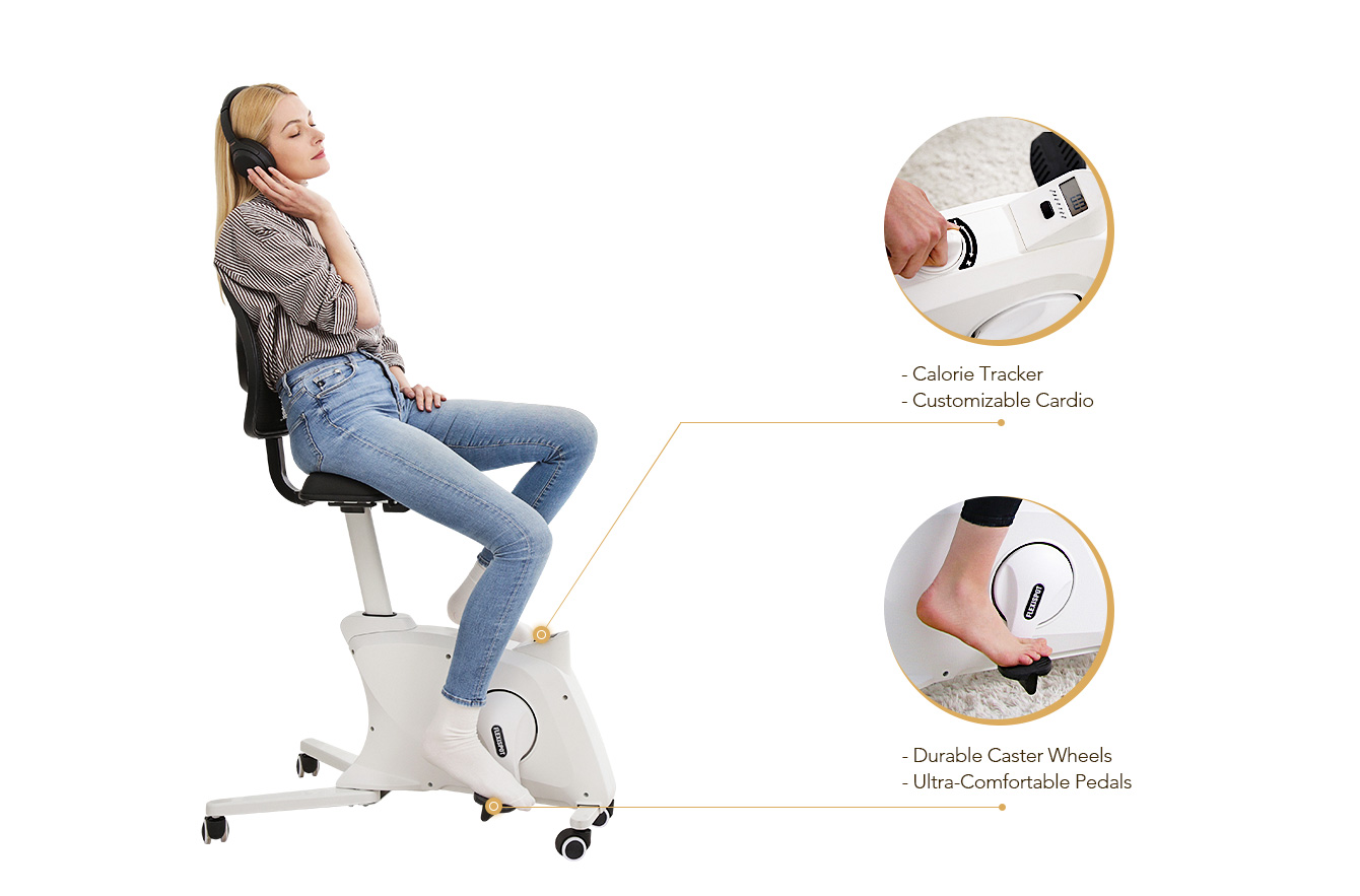 A Bike Always At Your Feet Sedentary lifestyle brings lots of problems. FlexiSpot has always been committed to providing health solutions. Let us make healthy strides from your chair.