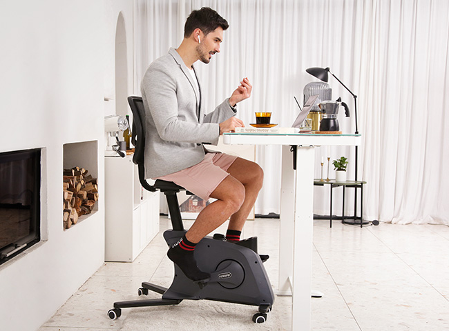 The ideal way to ease into a fitness routine with light cycling that can be done anytime and anywhere, even while enjoying other work and leisure activities.