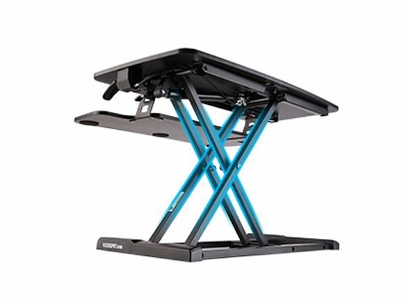 A heavy duty steel frame combined with top-quality gas springs and an environmentally-friendly MDF work surface enable smooth, even adjustment and a total weight capacity of 37.4 lbs.