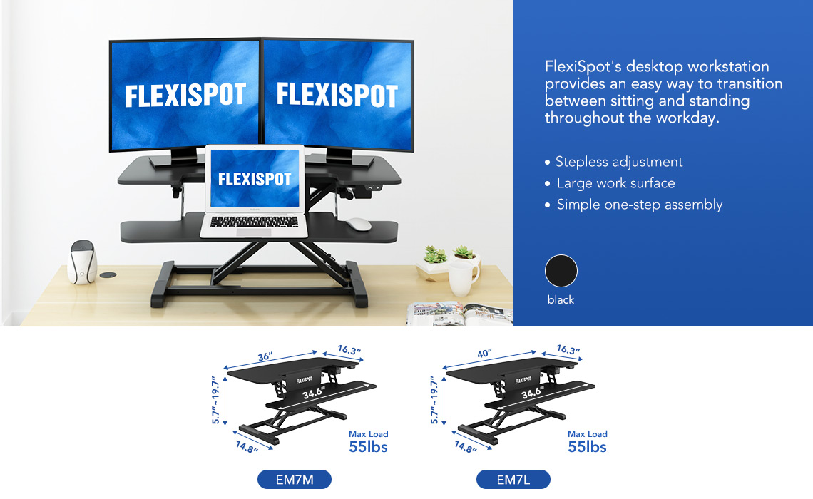 Flexispot electric sit-stand desk workstations