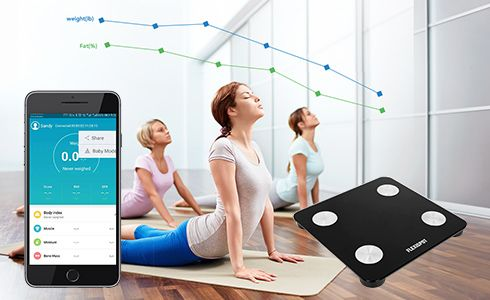 "Download the ""AiFit"" app from the Apple Store or Google Play to connect your smart scale and phone via Bluetooth. The app supports Android 4.3 and iOS 8.0 or later. Just create your own private account within the app. No one else can see your results but you! It keeps track of every weigh-in and automatically analyzes numerical trends so you can easily monitor your progress and get a clearer picture of your overall health!"
