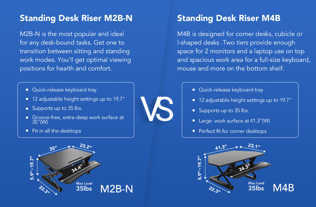 sit stand workstation comparison
